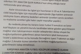 Karşıyaka Amatör Futbol Kulüpleri Derneği'nden açıklama