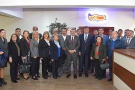 Başkan Dr. Cemil Tugay, Kaymakam Çalışır'ı ziyaret etti