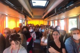 Türk Kızılay Karşıyaka ekibi yangın söndürme desteğine gitti