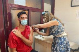 Kanada Voleybol Milli Takımı Karşıyaka'da aşı oldu