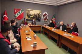 Ak Parti Karşıyaka İlçe Başkanı KSK'yi ziyaret etti