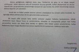 Karşıyaka'da Gökhan Şensan istifa etti