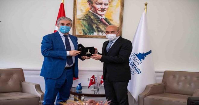 Danimarka'nın Ankara Büyükelçisi Annan'dan Başkan Soyer'e ziyaret
