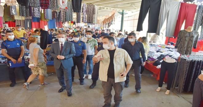 Karşıyaka'da tekstil pazarları kurulmayacak