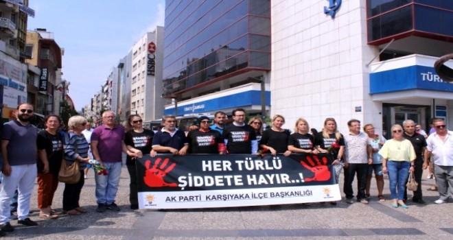 AK Parti Karşıyaka ''Kadına şiddeti'' protesto etti