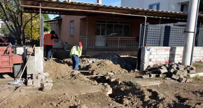 Yeni Şakran ve Hacıömerli'de evler doğalgaza kavuştu