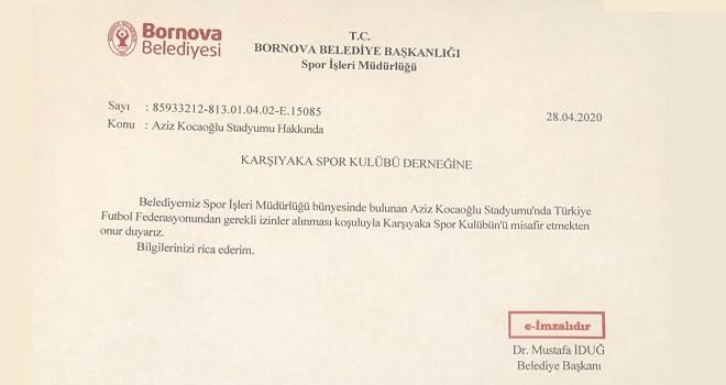 Bornova Belediyesi'nden KSK'ye stat jesti...