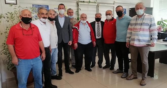 Amatörler, Spor Daire Başkanı Orhunbilge'yi ziyaret etti