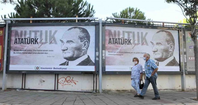 Atatürk Nutuk ile Gaziemir'e sesleniyor