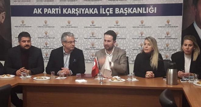 Başkan Akpınar, AK Parti Karşıyaka İlçe Başkanlığı'nı ziyaret etti