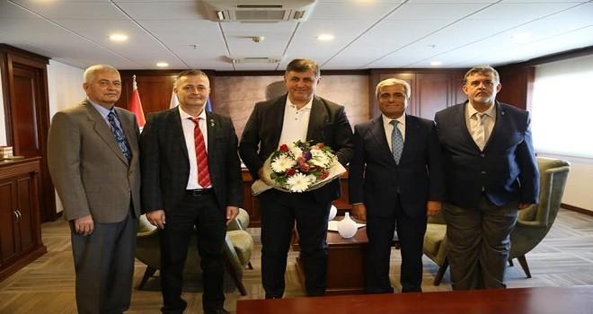 DSP Karşıyaka Yönetimi Başkan Tugay'ı ziyaret etti