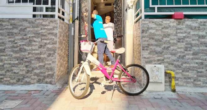 Bisiklet dönüşüm projesi çocukların yüzünü güldürüyor