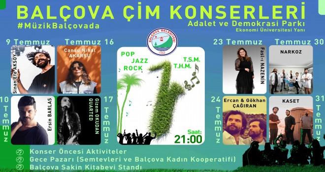 Balçova Çim Konserleri başlıyor