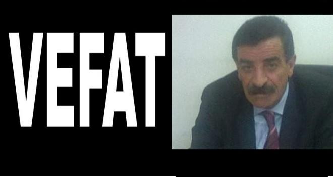 Mustafa Reşit Paşa İlkokulu'nun eski müdürü vefat etti