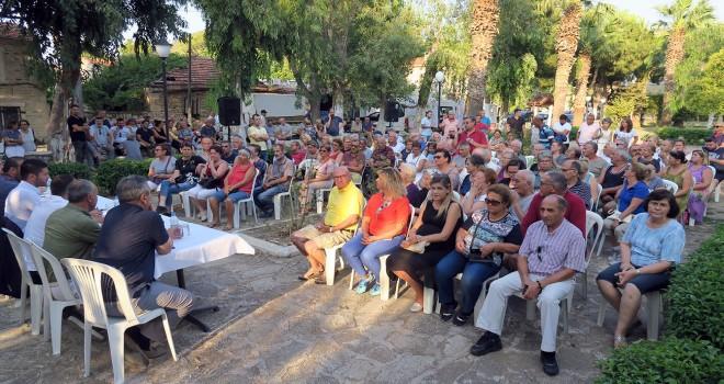 Yeni Foça'da halk toplantısı