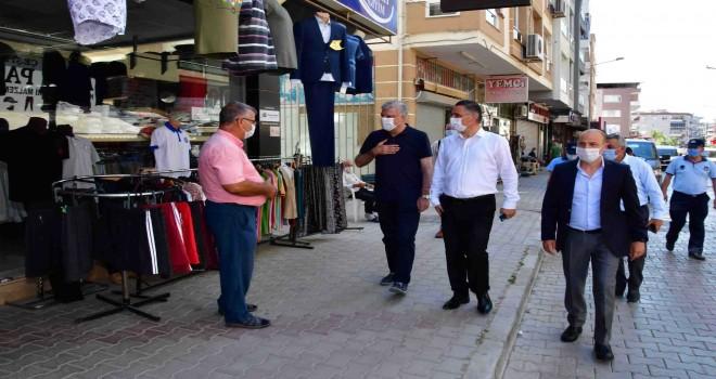Narlıdere'de  sokak sokak Covid-19 denetimi