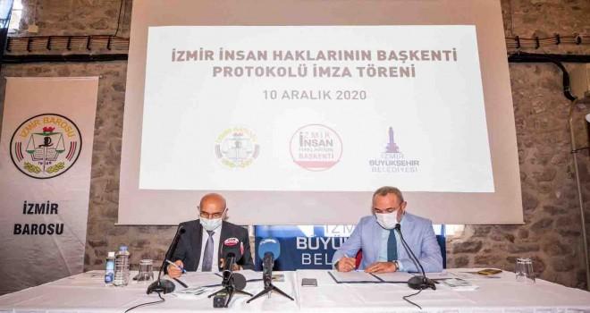 İzmir Büyükşehir Belediyesi ile İzmir Barosu arasında işbirliği