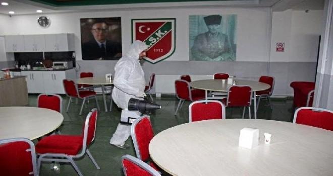KSK'de A takımın bulunduğu tesislere giriş çıkışı kısıtlandı