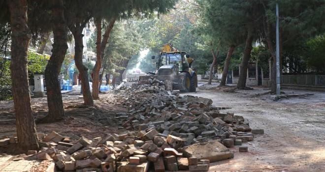 Çamlık sokağı yenileniyor