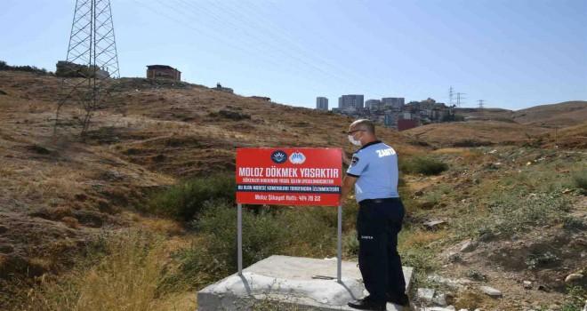 Karabağlar'da kaçak molozla mücadele sürüyor