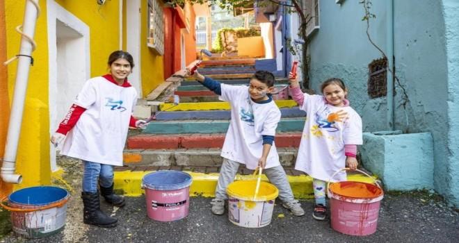 ''Renkli Proje'' Lale Mahallesi'nde hayatı değiştirdi