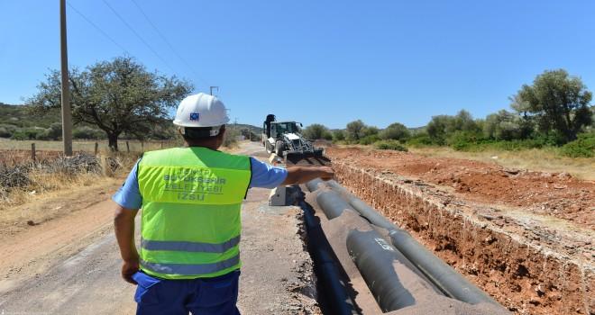 İZSU Küçük Menderes'in içme suyu altyapısını güçlendiriyor
