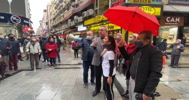 Andımızın kaldırılmasına CHP Karşıyaka İlçe Başkanlığı'ndan tepki