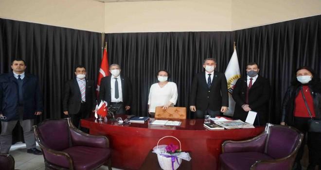 DSP İzmir İl Başkanlığı'ndan İGC'ye ziyaret