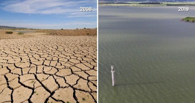 Tahtalı Barajı'nda bahar bereketi