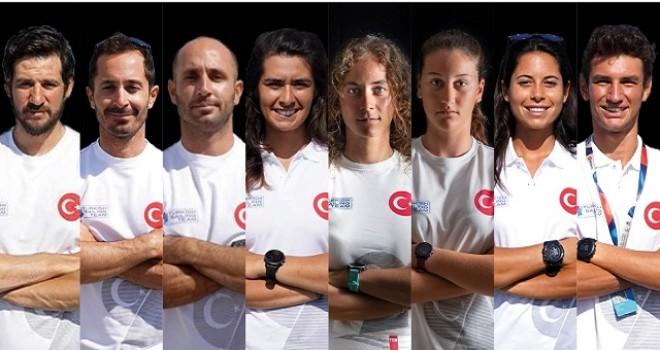 Yelkende 8 sporcu ile Olimpiyattayız...