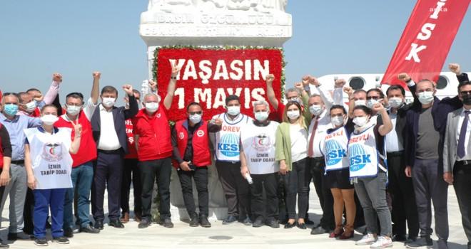 Başkan Tugay 1 Mayıs İşçi ve Emekçi Bayramı kutlamasına katıldı