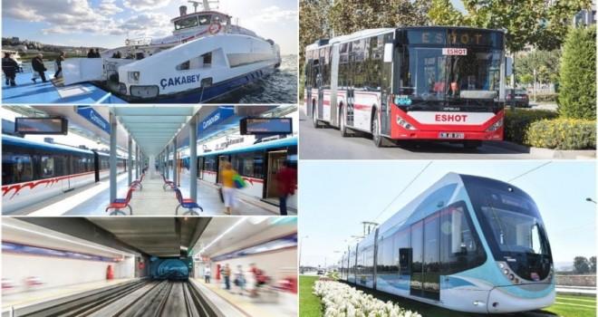 İzmir'de toplu ulaşımda üç gün kısıtlama düzeni