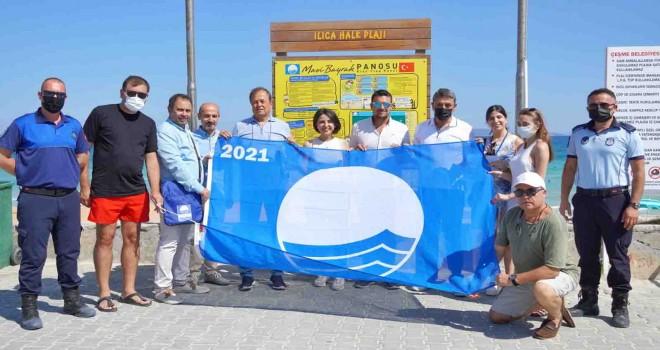 Ilıca Plajı'na ikinci Mavi Bayrak