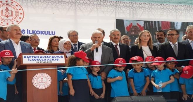 Kaptan Altay Altuğ İlkokulu'nun resmi açılışını Binali Yıldırım yaptı