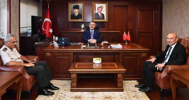 Başkan Soyer'den Vali Yavuz Selim Köşger'e hayırlı olsun ziyareti