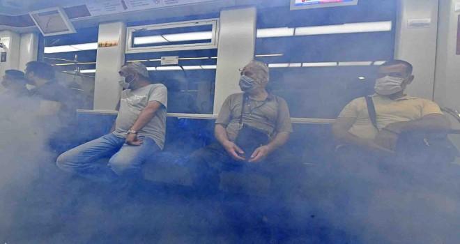 Metroda film gibi tatbikat