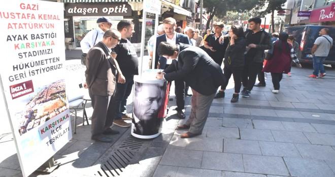 İyi Parti Karşıyaka, stat için imza kampanyası başlattı