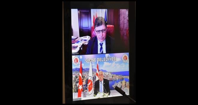 Başkan Tugay, Girne Belediye Başkanı Güngördü ile çevrimiçi görüştü