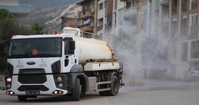 Bayraklı Belediyesi 86bin noktayı dezenfekte etti