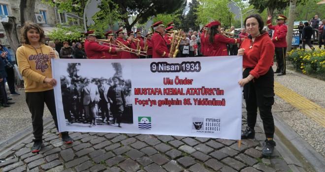 Atatürk'ün Foça'ya geliş yıl dönümü coşku ile kutlandı