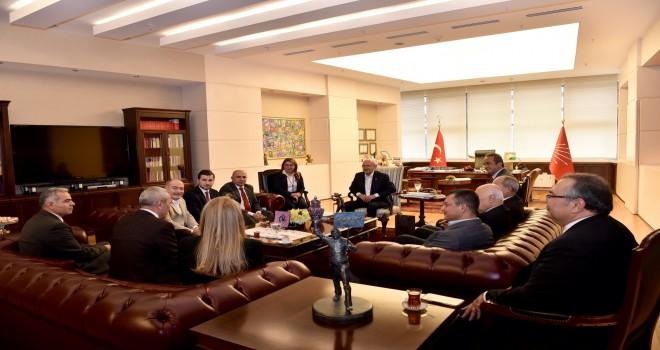 Egeli Başkanlar Kılıçdaroğlu'nu ziyaret etti