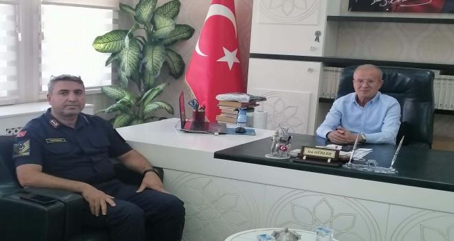 Jandarma Komutanı Karaman'dan Müftü Gürler'e ziyaret