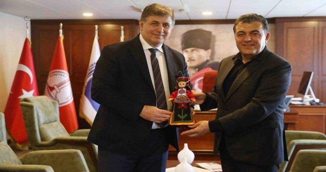 Ardahan Belediye Başkanı Demir'den Başkan Tugay'a dostluk ziyareti