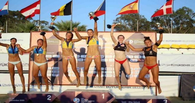 U-18 Avrupa Plaj Voleybol Şampiyonası'nda zafer Ukrayna'nın