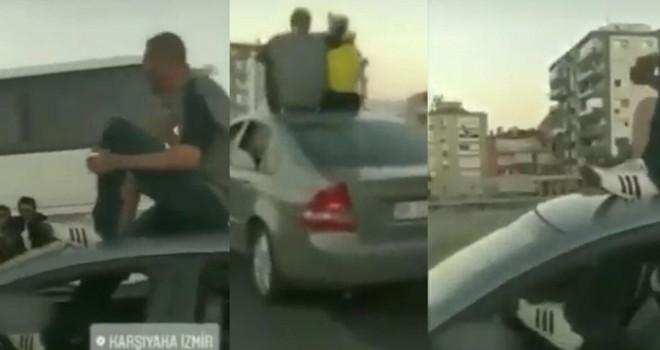 Ayağı ile araba kullanan kişinin ehliyetine el konuldu