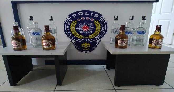 Foça'da kaçak içki operasyonu