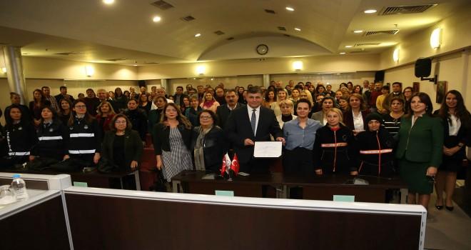 Başkan Tugay ''Kadın Erkek Eşitliği Şartı''na imza attı