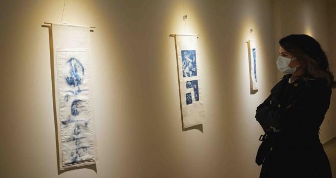 """Mavi Yansımalar """"Tekstil Yüzeylerde Mavi Baskılar"""" sanatseverle buluştu"""