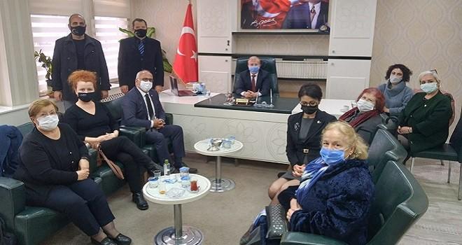 STK Başkan ve yöneticileri Müftü Gürler'i ziyaret etti