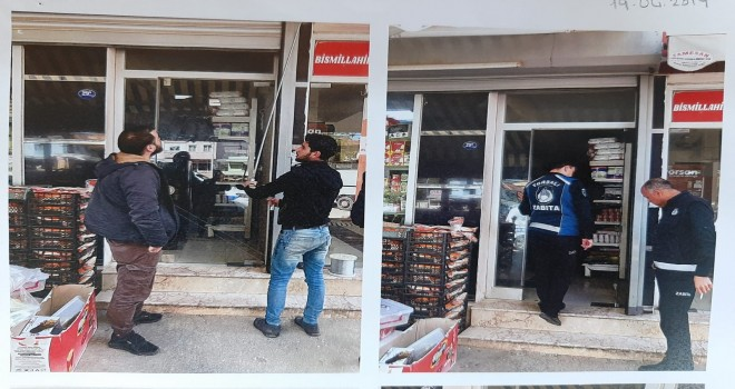 Torbalı'da Suriyelilerin dükkanları mühürlendi